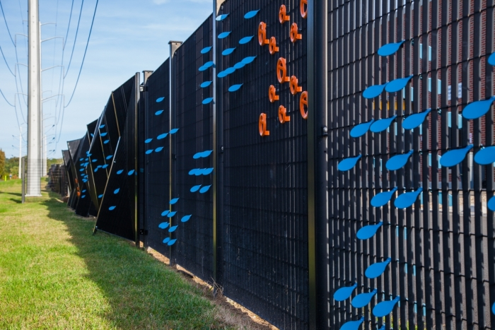 Water Pollution Control Plant, Ripple, Arlington, fence enhancement